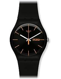 Swatch 斯沃琪 原创炫彩系列石英中性手表SUOB704 至黑色