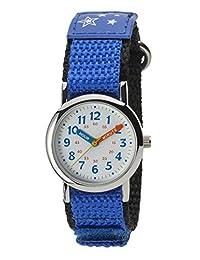 Kleiph 儿童手表 模拟 儿童 防水 尼龙表带 NB-AK216-A 女孩 蓝色