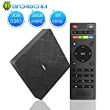 Android TV Box H96 pro+(3G+32G) Android 7.1 智能电视 H.265 4K 播放器 HDMI2.0 双频 Wi-Fi 和蓝牙 4.1 带无线键盘远程 Aoxun