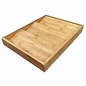 Simhoo 竹子调味料架抽屉厨房橱柜香料瓶架,可存放/收纳 3 层 竹子色 大