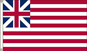 America's Flag Company Nylon Grand Union Historical Flag with Canvas Header and Grommets 5-Foot by 8-Foot