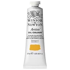 Winsor & Newton Artists Oil Color Paint Tube, 37ml, Cadmium Yellow Deep