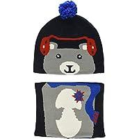 Columbia 儿童 Snow More 无檐小便帽和绑腿套装,幼儿, Collegiate Navy Bear One Size