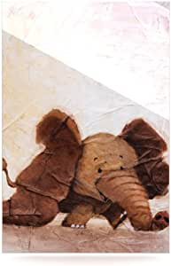 Kess InHouse Rachel Kokko 大象带长耳铝制浮动艺术板 24 到 36 英寸 RK1007AWR03