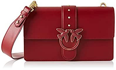 PINKO 女士 Love Abbraccio 1 单肩包,7.5 x 16.5 x 27 厘米 Rot (Dark Red) 7.5x16.5x27 centimeters (W x H x L)