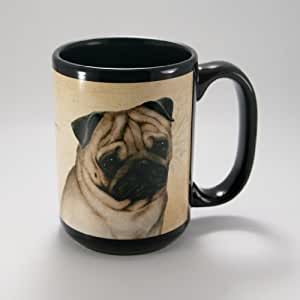MY FAITHFUL FRIENDS COFFEE CUP MUG PET DOG 礼物 哈巴狗 15 盎司 MFF136