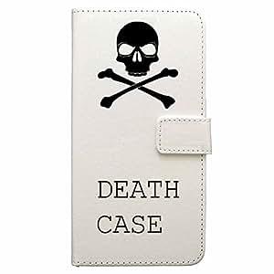 AQUOS SERIE SHV32 AQUOS SERIE 手册式 壳 套 手册式 白色 带挂绳孔 有照相机孔888-48993 デスケース ブラック Death Case Black 白色