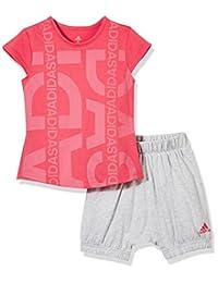 adidas Kids 阿迪达斯 婴儿 婴童针织套服 短袖 I MM ID G SET