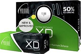 Polara 高尔夫 XD 黄色超远距离球,减少钩子和切片高达 50%,12 个装
