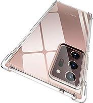 ORNARTO 三星 Note 20 Plus 手機殼,【氣墊】水晶透明超薄保護殼帶 4 個加固邊角防撞靈活透明 TPU 適用于三星 Galaxy Note 20 Plus (2020) 6.9 英寸透明