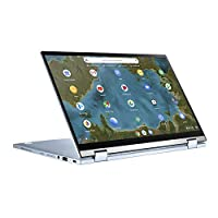 ASUS 华硕 Chromebook Flip C433TA (90NX02G1-M01410) 35.5厘米(14英寸,全高清,IPS级,NanoEdge,触摸)笔记本电脑(英特尔酷睿i5-8200Y,英特尔高清显卡 615,8GB 内存,128GB eMMC,Chrome OS)银色