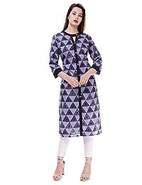Ramkudi 印度女式印花棉宽松上衣