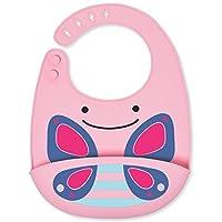 Skip Hop 婴儿硅胶围嘴:可折叠,蝴蝶印花