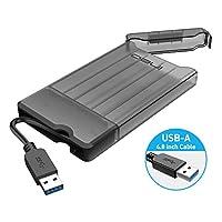 ineo 2.5 英寸 9.5mm 和 7mm SATA HDD SSD 型 A / 3.1 类型 C 免工具外置硬盘盒 [2573 系列]T2573G