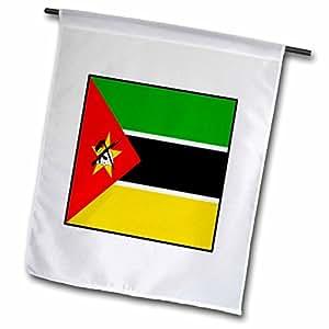 florene 饰有世界国旗–饰有莫桑比克国旗按钮–旗帜 12 x 18 inch Garden Flag