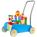 特宝儿 蓝色幼儿学步车 积木推车 1-3岁玩具 150073
