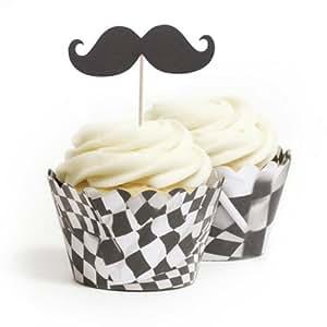 Dress My Cupcake 小胡子蛋糕装饰和包装 DIY 套件,标准,赛车,100 件套