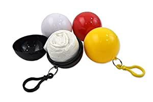 应急雨衣 球形雨衣 塑料球钥匙扣一次性雨衣 便携式小球雨衣 随身带雨衣 5件 雨衣