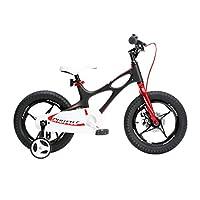 ROYALBABY 优贝 18寸儿童自行车星际飞车黑色4-7岁镁合金萌宝礼物(亚马逊自营商品, 由供应商配送)