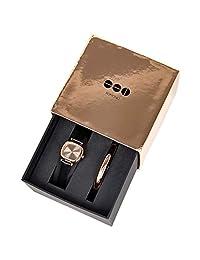 KOMONO 女士模拟石英手表皮革表带 KOM-W1247