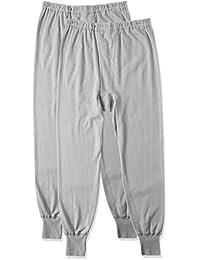(郡是) Gunze 衬裤保暖柔软平滑*** 全棉前开口2条装