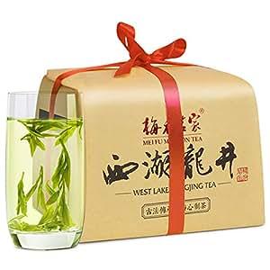 梅府茗家茶叶 绿茶 正宗梅家坞雨前三级西湖龙井雨前鲜爽 龙井茶250g罐装茗茶