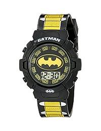 DC Comics 蝙蝠侠儿童 BAT4177 数字显示器石英多色手表