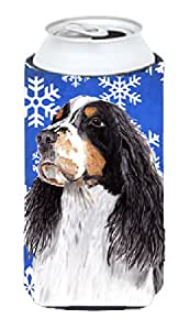 Springer Spaniel Winter Snowflakes Holiday Michelob Ultra Koozies for slim cans SC9361MUK 多色 Tall Boy