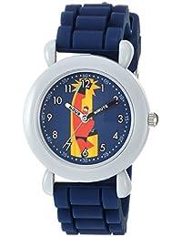 迪士尼男孩'Incredibles 2' 石英塑料和硅膠休閑手表,顏色:藍色(型號:WDS000563)