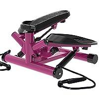 leikeFitness 高级便携式旋转楼梯步进可调节电阻,扭转步健身器带带和液晶显示器 ST6610-2(紫色)