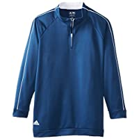 adidas Golf Boy's 3-Stripes Piped 1/4 Zip Jacket