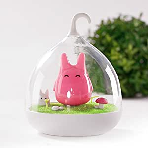 Vibration Children's Night Lights Touch Sensor Birdcage Chargeable LED Lamp Hand-held Design Portable Night Lamp with USB Charging Cable for Kids/Babys as Sleeping Light/Home Decor (Pink)