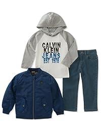 Calvin Klein 3 件套男童夹克套装