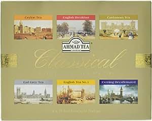 AHMAD TEA 亚曼 精选红茶礼盒120g(6种经典红茶)(阿联酋进口)