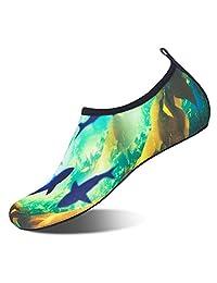 水鞋男式女式沙滩游泳鞋速干浅绿色短袜游泳池 SHOES 适用于冲浪 yoga 水 aerobics