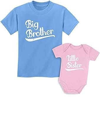 tstars 姐妹 shirts 套装适用于兄弟和姐妹男孩 & 女孩礼品套装 Kids Shirt California Blue/Baby Pink Kids Shirt 18M / Baby Newborn