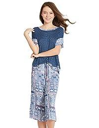 INK + IVY 女式睡衣衬衫和七分裤休闲裤睡衣套装请参阅更多颜色和尺码