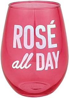 倾斜无柄酒杯 20 盎司。 3.5 x 5 英寸(约 8.9 x 12.7 厘米)高 粉红色 Cocktail 10-04859-217