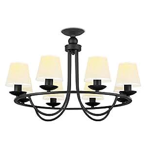 NVC 雷士照明 8头吊灯 简约美式客厅灯 需自购E27光源*8(亚马逊自营商品, 由供应商配送,如有疑问可咨询QQ客服:1489847978或拨打客服电话:0756-3673767)