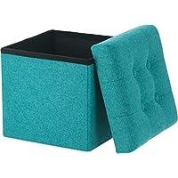 不二贸易 收纳凳 蓝色 宽30cm 箱凳 折叠式 迪诺 mini 承重80kg 86852