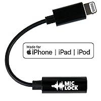 Mic-Lock 带 SOUNDPASS 闪电麦克风屏蔽器 - 信号屏蔽设备适用于 iPhone 和 iPad 音频*,隐私,计数器 - Surveillance - 听音乐无Eavesdropping