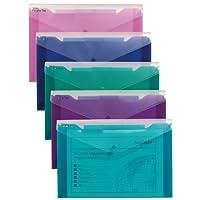 Snopake 14967 Polyfile Trio Electra 文件袋 聚丙烯 带薄膜 - 5 件颜色分类