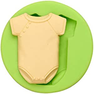 Creationtop 硅胶模具泰迪熊软糖和牙龈膏糖果蛋糕烘焙模具用于蛋糕装饰 Baby Boy Cloth unknown
