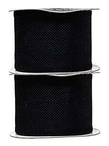 Mandala Crafts 粗麻布丝带,黄麻织物条纹线轴,用于乡村装饰,花环形,节日装饰,礼品包装 黑色 2.5 英寸 Burlap Ribbon