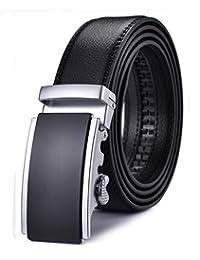 Xhtang 男式纯色扣带自动棘轮皮带 35mm 宽 3.49cm