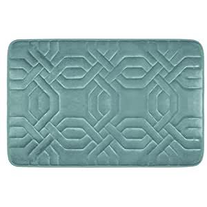 """Bounce Comfort Chain Ring Extra Thick Premium Memory Foam Bath Mat with BounceComfort Technology, 20 x 32"""" Marine Blue"""