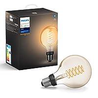 Philips Hue Filament White G93 E27 Hue Filament White G93 E27, Smart bulb, 黑色, 灰色, LED, E27, Soft white, 550 lm
