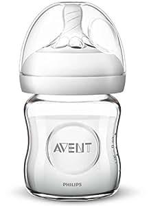 AVENT 新安怡 自然系列 宽口 玻璃 奶瓶 4oz/120ml 附特柔新生儿奶嘴(适合0个月+)(产地:法国) SCF671/13