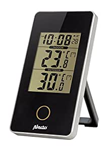 Alecto 气象站室内和室外传感器,温度,湿度,黑色,6.2 x 10 x 10厘米,WS-150