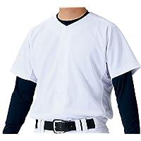 ZETT(ZETT) 棒球 制服 全开衫 衬衫 针织布裤 白色(1100) BU1181S 白色(1100) Medium